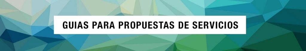 GUIAS PARA PROPUESTAS DE SERVICIOS